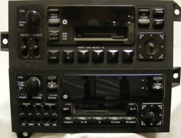 A Guide To Chrysler Dodge Jeep Plymouth Stereo Head